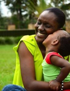 Twinkletoes gives Mum Rukh-Shana a peck