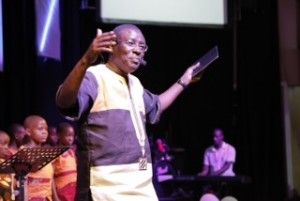 Pastor Peter Kasisrivu of Gaba Community Church preaching.
